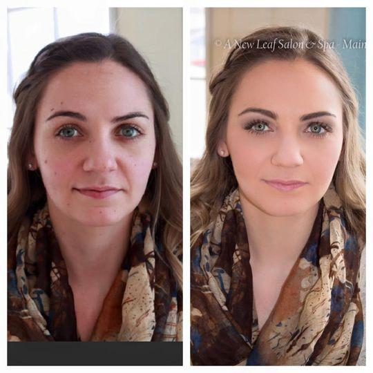 Neutral makeup look