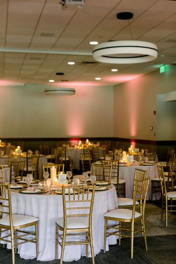 Banquet hall settings