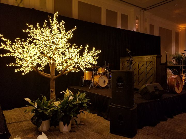 LED tree rental wedding