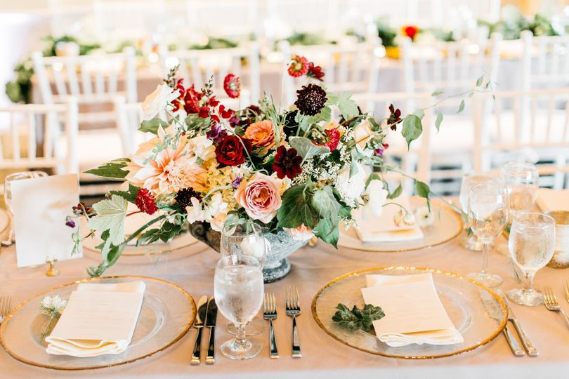 Floral centerpiece | Catie Coyle Photography