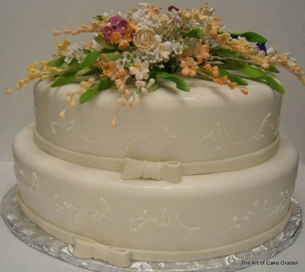 Tmx 1332934512758 WildflowerWedding Oradell wedding cake