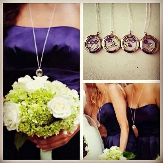 Customize a Locket for the Bride and her Bridal Party... Pick your Charms, Locket, Chain and Dangle...