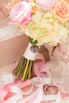 Make a Brides Bouquet mean even more with a customized locket from the mother of the bride or maid...