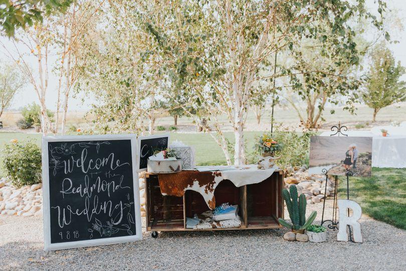Entrance to wedding yard