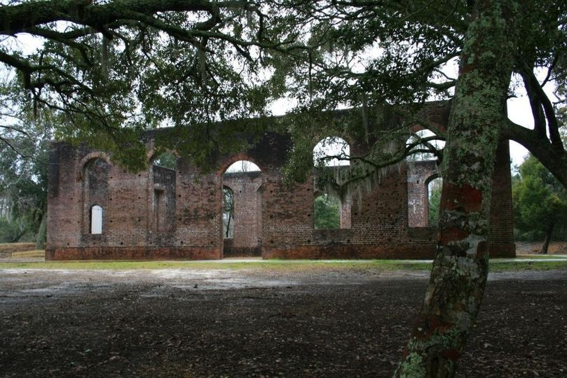 The ruins of St. Philips Anglican Church at Brunswick Town/Fort Anderson State Historic Site.