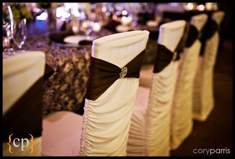 Black and white chair cover