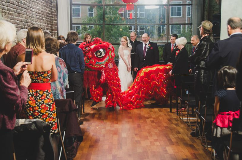 Chinese dragon in wedding