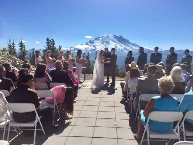 Wedding by a beautiful scenic view