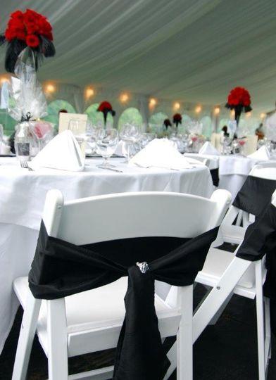 Black chair bows