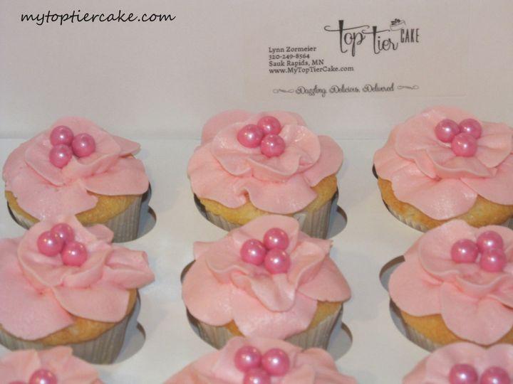 Tmx 1395111010152 Flower Cupcakesedited  Sauk Rapids wedding cake
