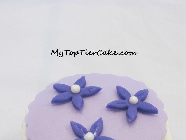 Tmx 1395111215846 Purple Flower Cupcak Sauk Rapids wedding cake
