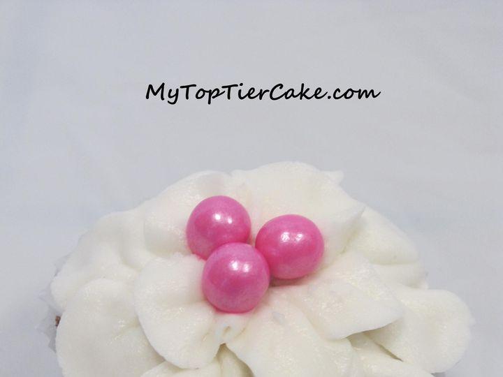 Tmx 1395111397477 White Flower Pedal Cupcak Sauk Rapids wedding cake