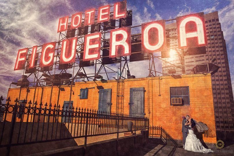 figueroa hotel wedding photosgenie in a bottle pho