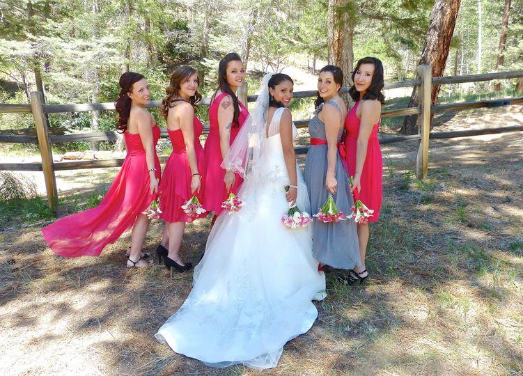 Bridemaids and bride, Santa Fe Wedding Video