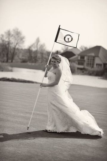 Bride on the green