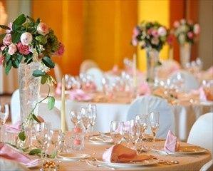 Glassware and floral decor