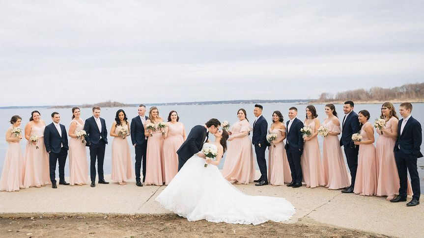 home03 new rochelle new york beach wedding vip country club bride groom bridal party kiss photographer 51 780406 v1