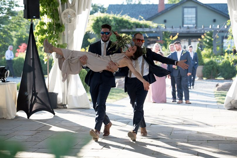 This wedding party entrance!