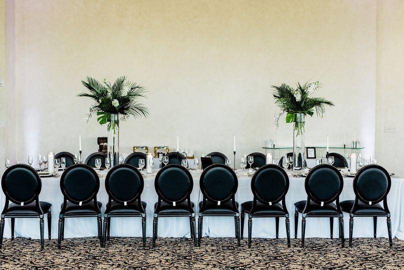 Black tropical wedding