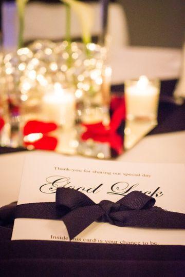 Wedding invitation and ribbon