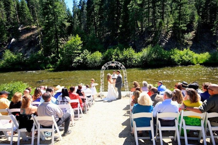 River ceremony along middle fork of Feather River at Twenty Mile House Northern California