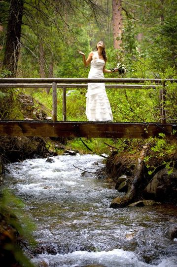 Bridge over Jackson Creek at Twenty Mile House wedding Northern California