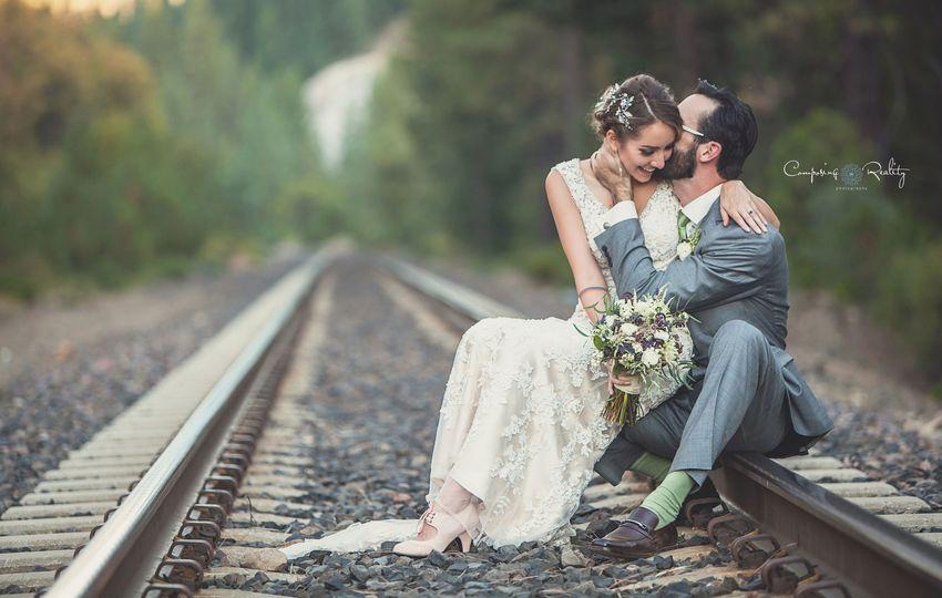 Historic train tracks Twenty Mile House wedding venue Tahoe Reno