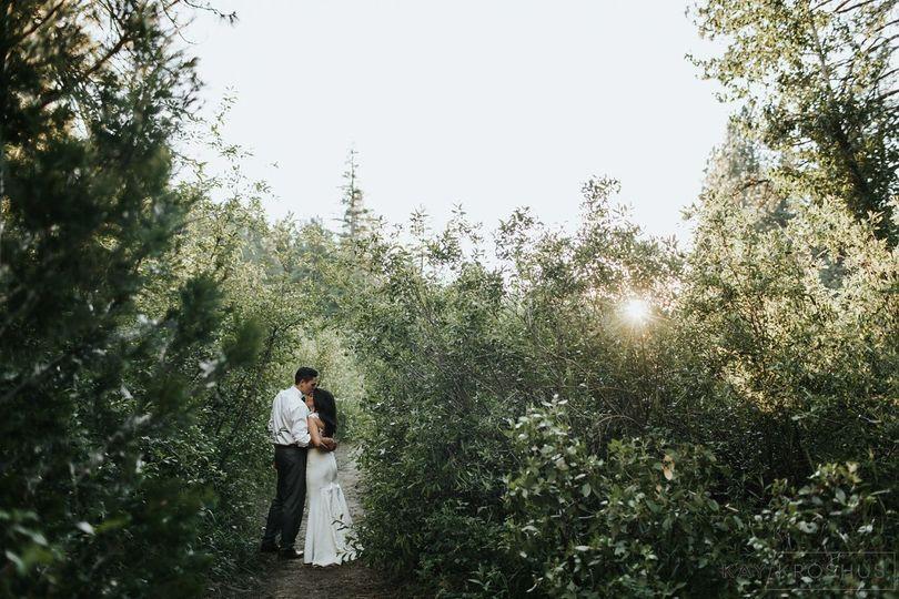 River pathway at Twenty Mile House wedding venue Tahoe Reno