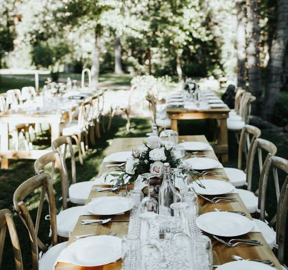 Farm tables Twenty Mile House wedding Tahoe Reno