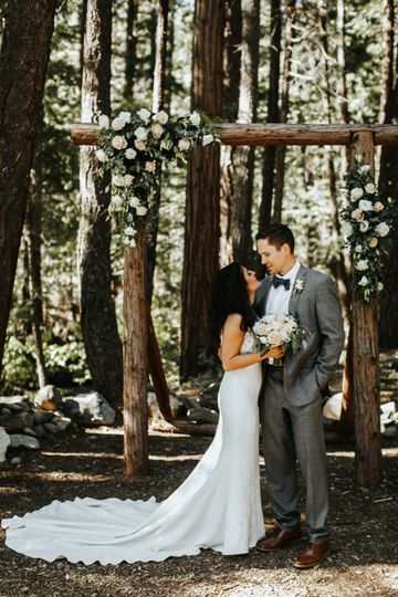 Forest wedding Twenty Mile House wedding Tahoe Reno
