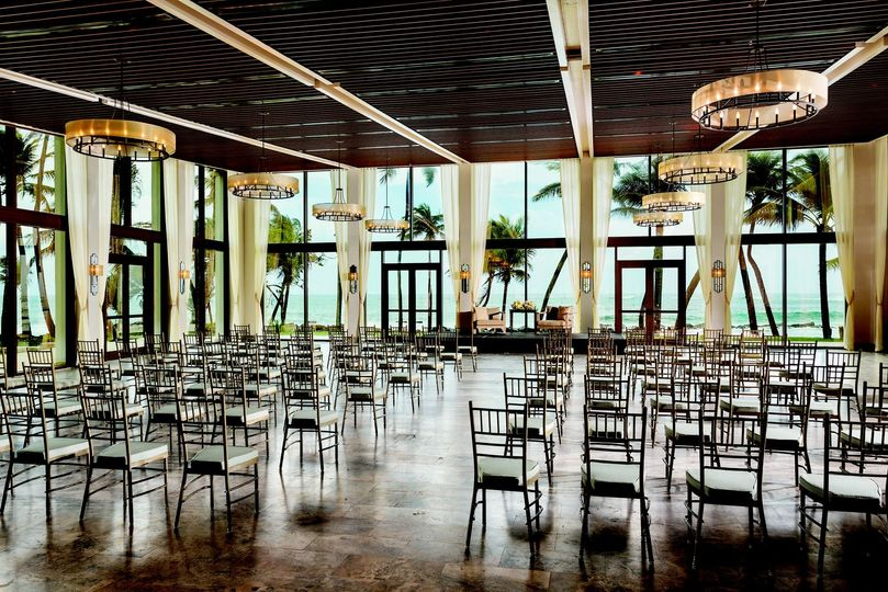 Ceremony Setup in Ballroom