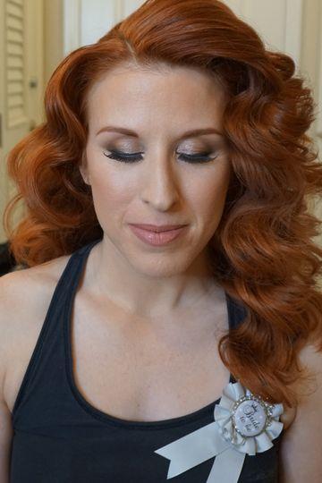 Red hair bride