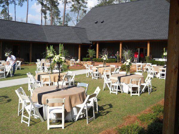Outdoor table arrangements