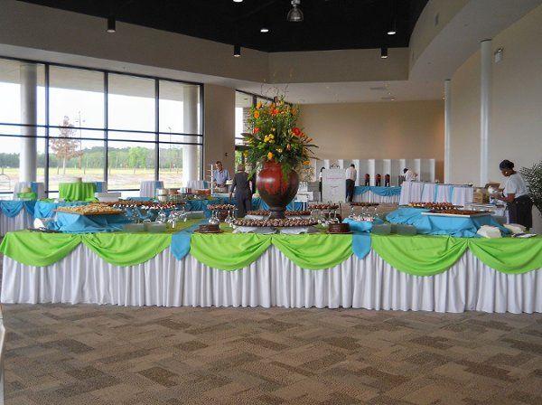 Green themed table arrangement