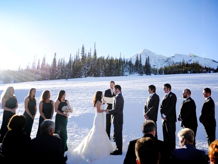 Tmx 1429729028265 11winter Ceremony Laura Parker Photography.smaller Big Sky, MT wedding venue