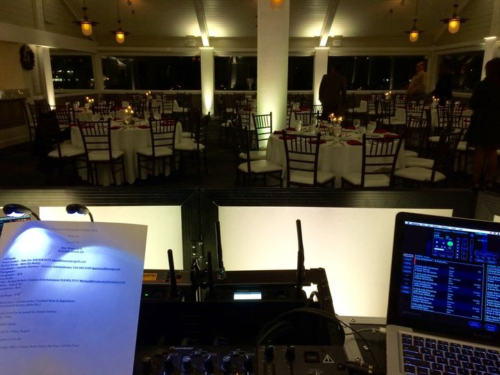 Blue Water Grill in Redondo Beach Up-Lights & Entertainment by Ovation Entertainment