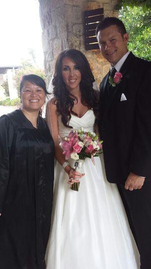 Luke & Kelli  June 2014 with Re. Rosandra Simmons