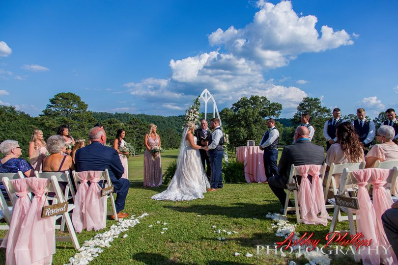 Outdoor ceremony is stunning