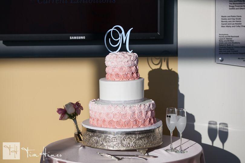 ombre rosette cake1