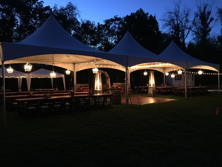 Tents, specialty lighting and heaters