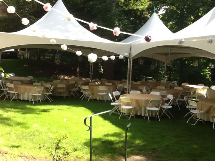 Tents, tables, chairs, linens and décor
