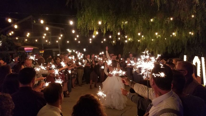 Sparkler Dance for the bride and groom in Temecula