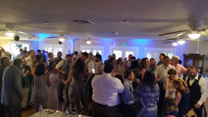 A full dance floor in Mission beach