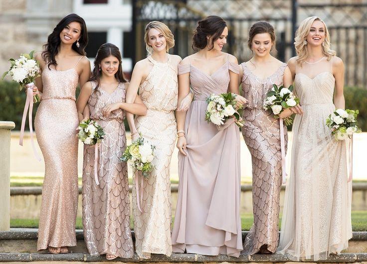 Bridesmaids mix and match