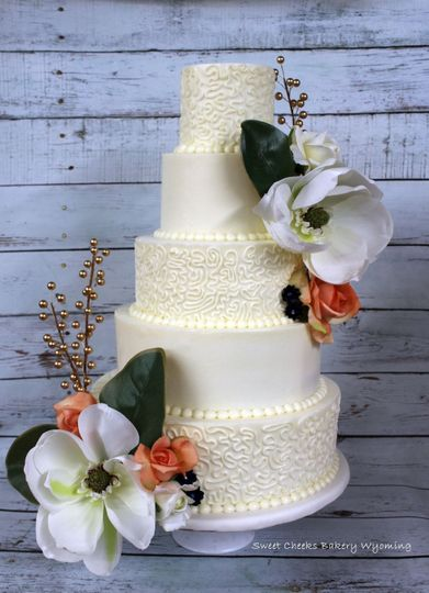 Buttercream with silk florals