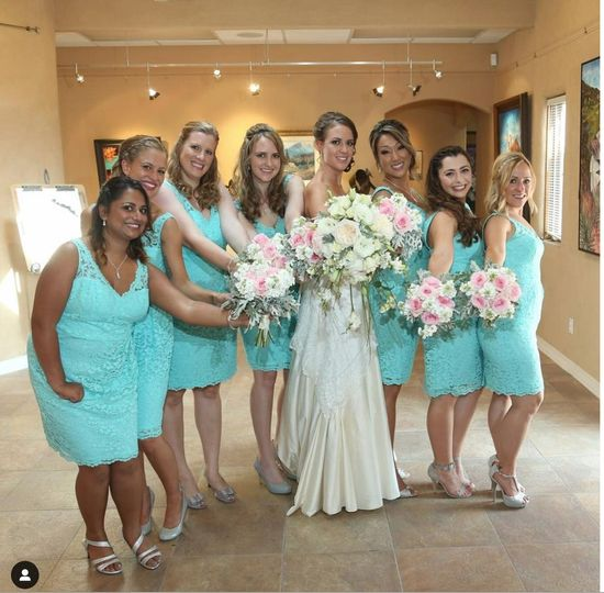 Bride and her court