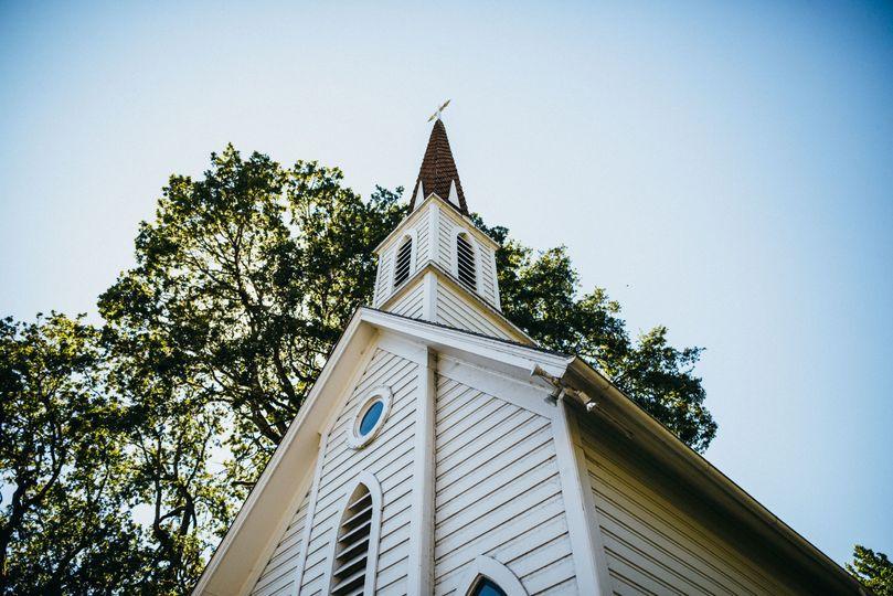 Oaks Pioneer Church steeple