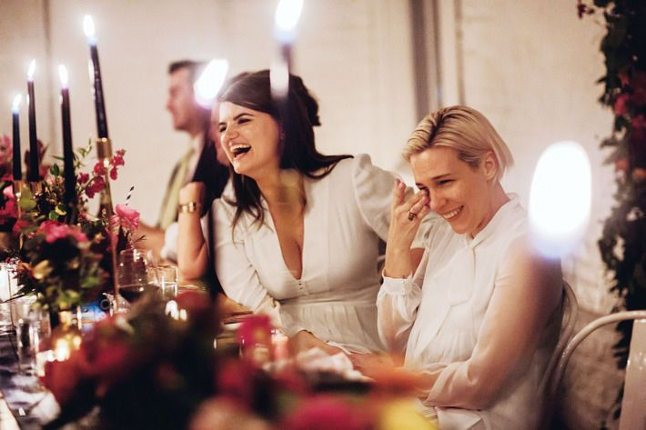 Laughter at the head table