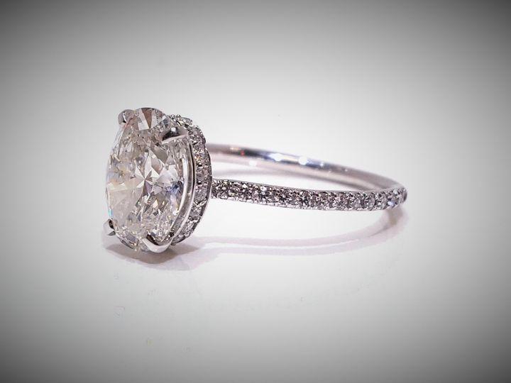 Tmx 1473281733706 Oval Halo2 Hanover wedding jewelry
