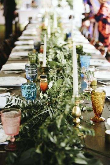 Green decor | Natalie E Photography